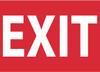 EXIT, 10X14, RIGID PLASTIC