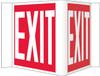 VISI SIGN, EXIT, WHITE, 8X14 1/2, .125 ACRYLIC