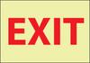 EXIT, 10X14, GLOW RIGID PLASTIC
