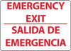 EMERGENCY EXIT, BILINGUAL, 10X14, .040 ALUM