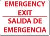 EMERGENCY EXIT, BILINGUAL, 10X14, RIGID PLASTIC