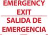 EMERGENCY EXIT, BILINGUAL, 10X14, GLO RIGID PLASTIC
