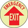 FLOOR SIGN, WALK ON, EMERGENCY EXIT, 17 DIAGLOW