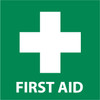 FIRST AID (W/ GRAPHIC), 7X7, RIGID PLASTIC