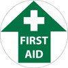 """FLOOR SIGN, WALK ON, FIRST AID, 17"""" DIA"""