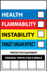 RIGHT TO KNOW LABELS, WRITE ON COLOR BAR, 6X4, PS VINYL, 10/PK