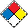 HAZARDOUS MATERIALS SYSTEM LABELS, 4 1/2X4 1/2, PS VINYL, 5/PK