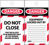 TAGS, DANGER, DO NOT CLOSE, 6X3, SYNTHETIC PAPER, 25/PK