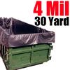 4 Mil 30 Yard Dumpster Liner