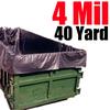 4 Mil 40 Yard Dumpster Liner