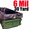 6 Mil 30 Yard Dumpster Liner