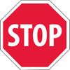 STOP, OCTAGON, 12X12, RIGID PLASTIC