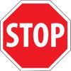 STOP, 24X24 OCTAGON, .080 HI PRISMATIC REF ALUM