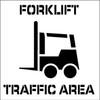 STENCIL, FORKLIFT TRAFFIC AREA, 24X24