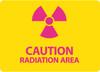 (GRAPHIC) CAUTION RADIATION AREA, 10X14, .040 ALUM
