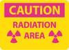 CAUTION RADIATION AREA, 10X14, .050 RIGID PLASTIC
