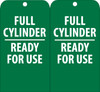 TAGS, FULL CYLINDER READY FOR USE, 6X3, UNRIP VINYL, 25/PK W/ GROMMET