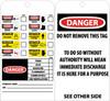 TAGS, CHEMICAL ID, 6X3, UNRIP VINYL, 25/PK W/ GROMMET