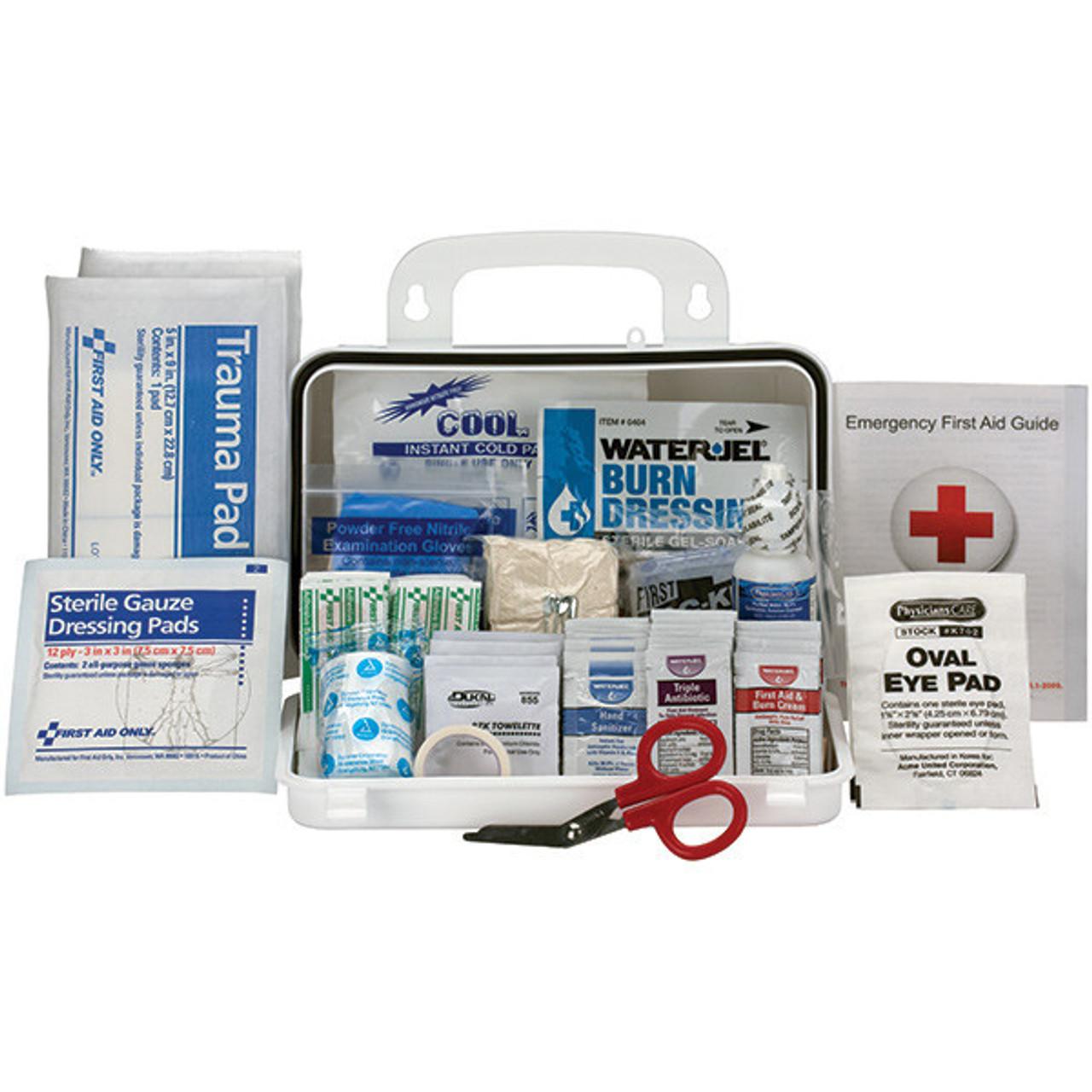 10-Person, Bulk ANSI A Weatherproof First Aid Kit, Plastic - 90754