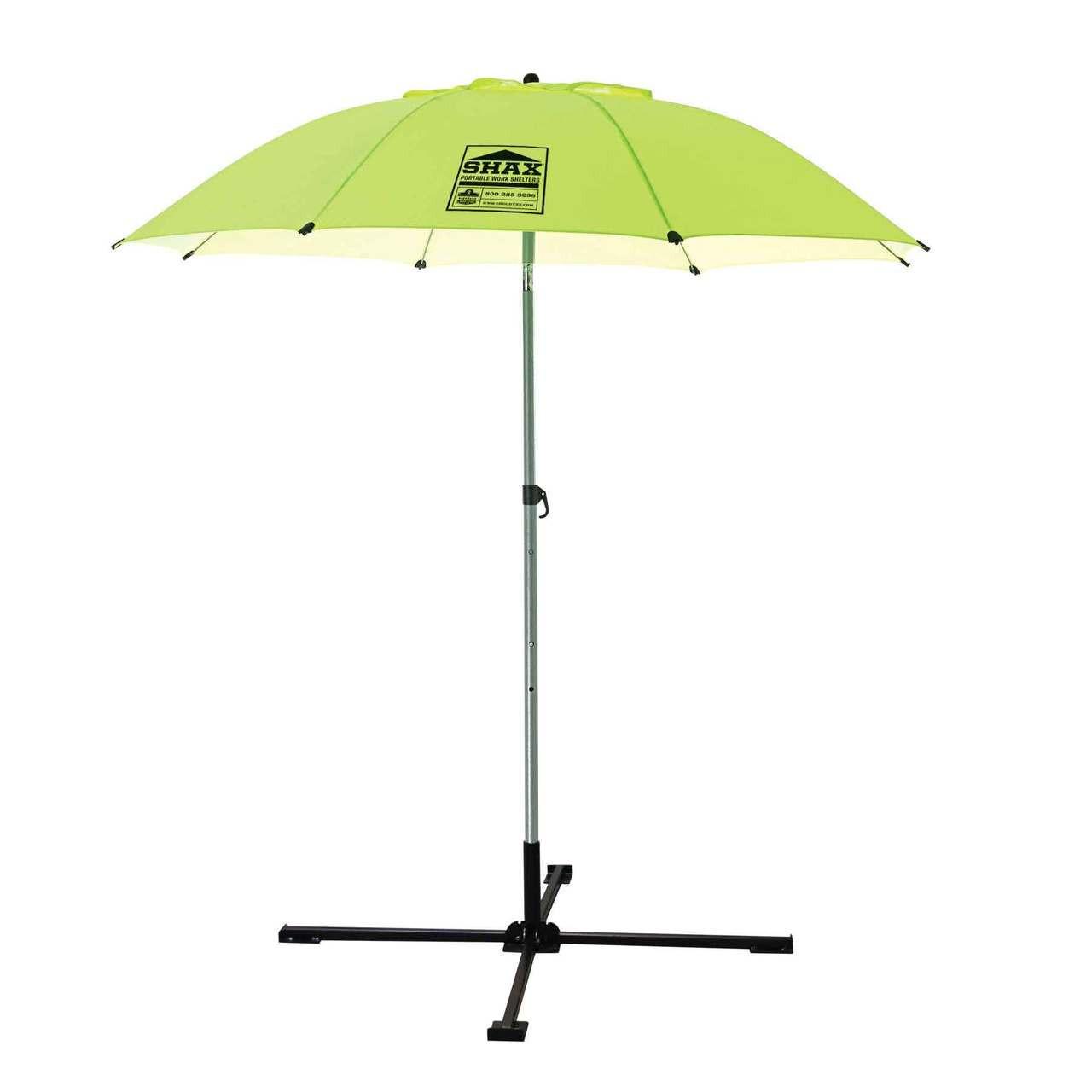 Ergodyne Shax 6100 Lime Lightweight Industrial Umbrella