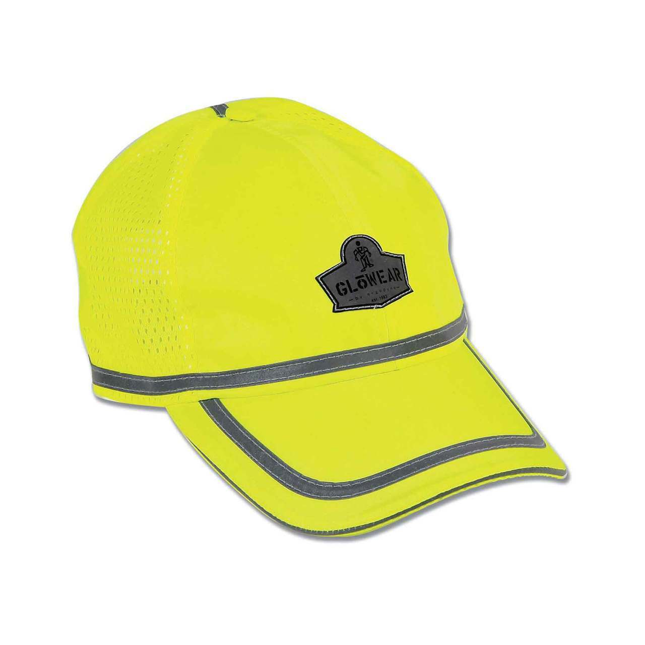 ead2a7db323 Ergodyne GloWear 8930 Lime Hi-Vis Baseball Cap - Jendco Safety Supply