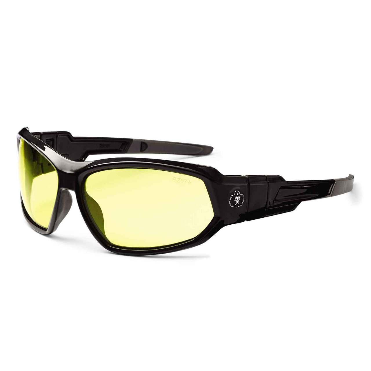 35704a93ef Ergodyne Skullerz LOKI Yellow Lens Black Safety Glasses    Goggles - Jendco  Safety Supply
