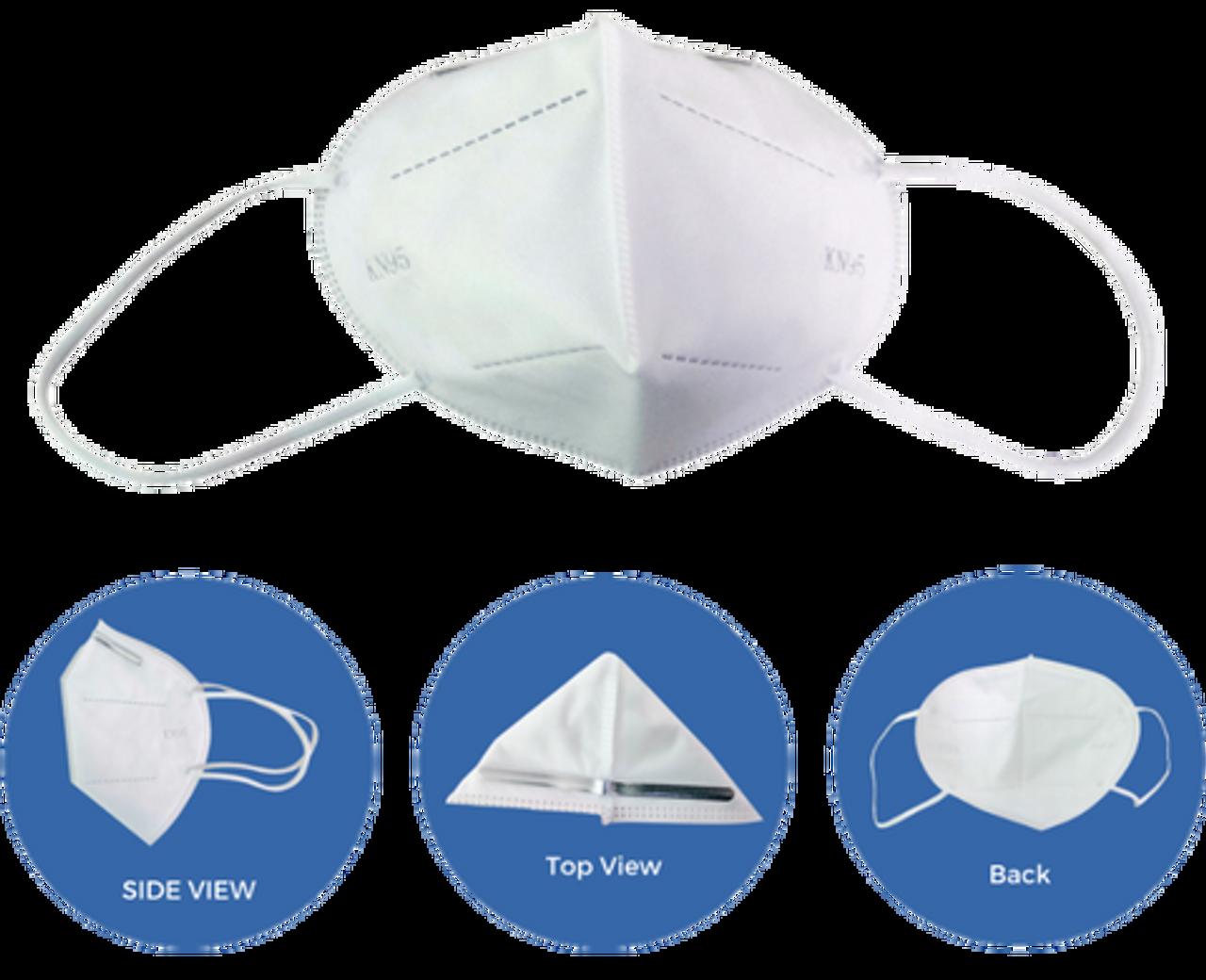 KN95 Disposable Half Face Dust Mask - 5/pk