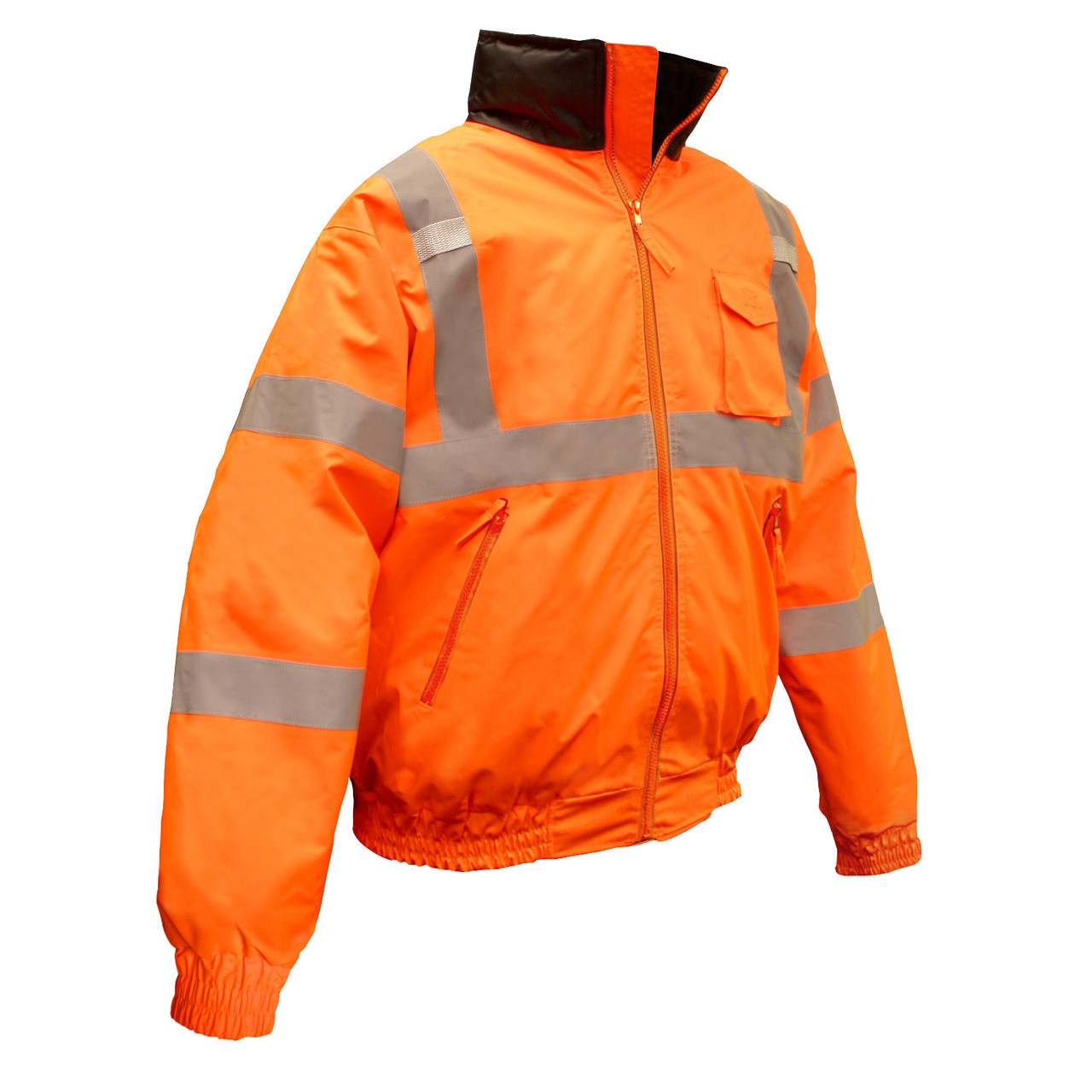 e38b7a85a Radians Class III Quilted Hi-Viz Orange Bomber Jacket [M-5XL]