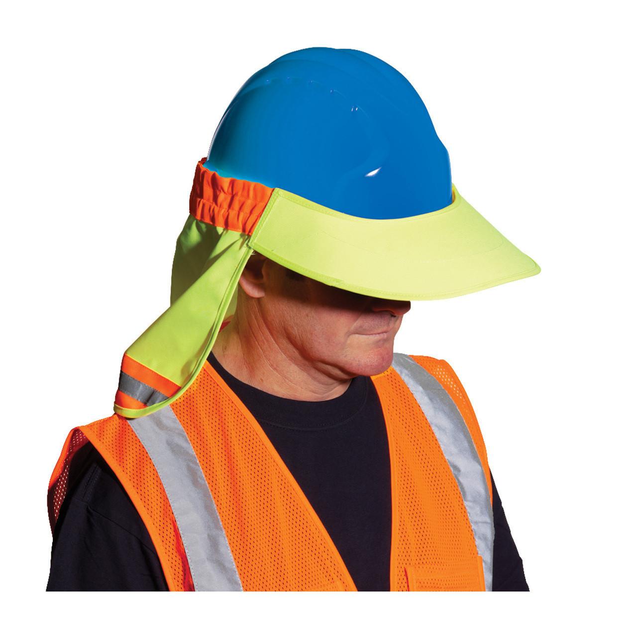 0aac9c5aa3d2b EZ-Cool® Hi-Vis Hard Hat Visor and Neck Shade 396-800 - Jendco ...
