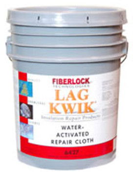 "Fiberlock Lag-Kloth Water Activated Repair Cloth 4""x150'-3 Rolls (6427)"