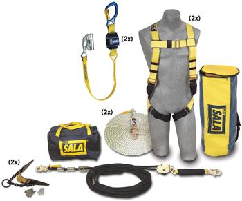 3M DBI-SALA 2 Person Roofer's Fall Protection Kit - Horizontal Lifeline System - 7611907