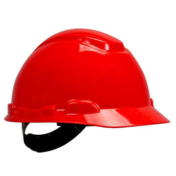 3M Hard Hat - H-705R-UV - Red - 4-Point Ratchet Suspension with Uvicator 20 EA/Case