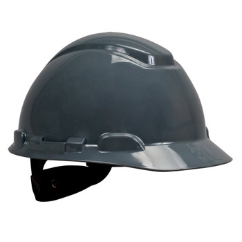3M Hard Hat - H-708R-UV - Gray - 4-Point Ratchet Suspension with Uvicator 20 EA/Case