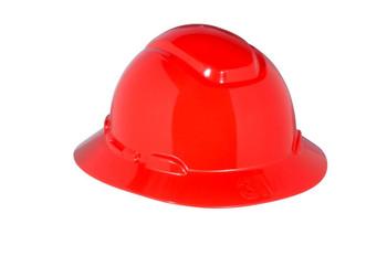 3M Full Brim Hard Hat H-805R - Red 4-Point Ratchet Suspension - 20 EA/Case