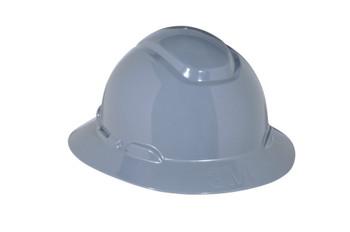 3M Full Brim Hard Hat H-808R - Gray 4-Point Ratchet Suspension - 20 EA/Case