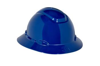 3M Full Brim Hard Hat H-810R - Navy Blue 4-Point Ratchet Suspension - 20 EA/Case