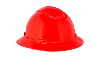 3M Full Brim Hard Hat H-805V - Red 4-Point Ratchet Suspension - Vented - 20 EA/Case