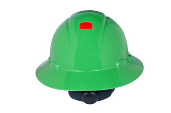 3M Full Brim Hard Hat H-804R-UV - Green 4-Point Ratchet Suspension - with Uvicator - 20 EA/Case