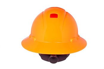 3M Full Brim Hard Hat H-807R-UV - Hi-Vis Orange 4-Point Ratchet Suspension - with Uvicator - 20 EA/Case