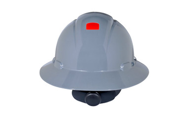 3M Full Brim Hard Hat H-808R-UV - Gray 4-Point Ratchet Suspension - with Uvicator - 20 EA/Case