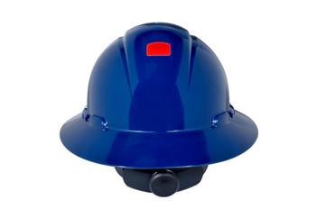 3M Full Brim Hard Hat H-810R-UV - Navy Blue 4-Point Ratchet Suspension - with Uvicator - 20 EA/Case