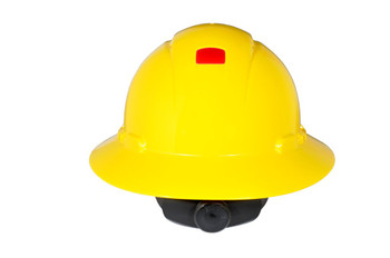3M Full Brim Hard Hat H-802V-UV - Yellow 4-Point Ratchet Suspension - Vented - with Uvicator - 20 EA/Case