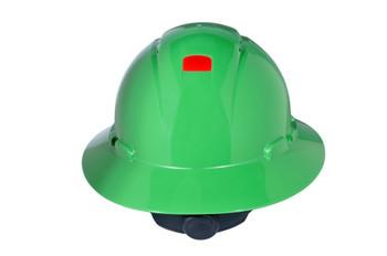 3M Full Brim Hard Hat H-804V-UV - Green 4-Point Ratchet Suspension - Vented - with Uvicator - 20 EA/Case