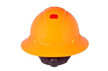 3M Full Brim Hard Hat H-807V-UV - Hi-Vis Orange 4-Pt Ratchet Suspension - Vented w/Uvicator - 20 EA/Case