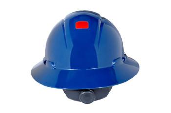 3M Full Brim Hard Hat H-810V-UV - Navy Blue 4-Point Ratchet Suspension - Vented - w/Uvicator - 20 EA/Case