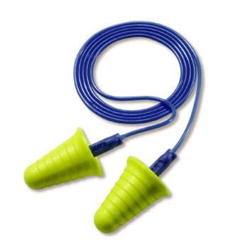 3M E-A-R Push-Ins with Grip Rings Corded Earplugs 318-1009, in Poly Bag 2000 EA/Case