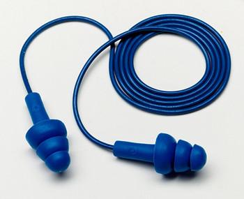 3M E-A-R UltraFit Metal Detectable Corded Earplugs 340-4017, in Econopack Dispenser Box 2000 EA/Case