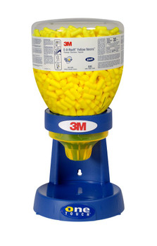 3M E-A-Rsoft Yellow Neons Uncorded Earplugs 391-1005, Large, in One Touch Dispenser Refill Bottle, Large Size 1600 EA/Case