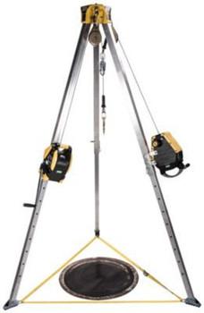 MSA Workman 8' Tripod & 50' Workman SRL with 65' Winch Confined Space Kit - 10163033