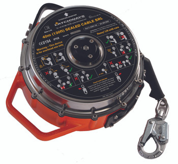 MSA 130 ft. Latchways Sealed Self-Retracting Lanyard - 62841-00US